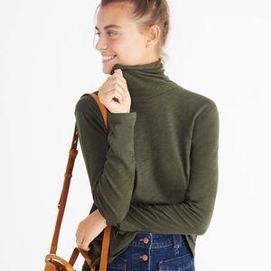 Madewell Whisper Cotton Green Turtleneck